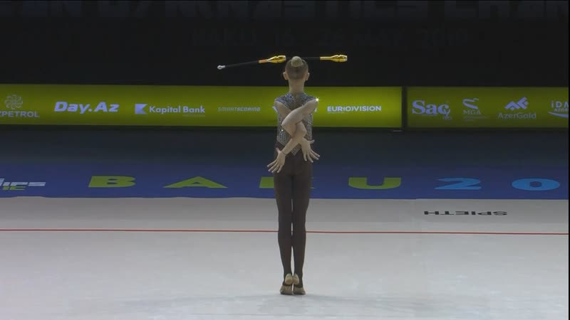 Виктория Оноприенко Булавы Квал Чемпионат Европы Баку 2019