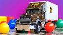 Abrimos nuevo juguete. Un camión de carga. Vídeos para niños.