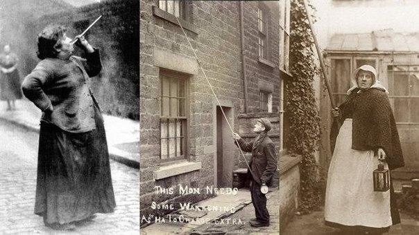 До появления будильников, в Англии и Ирландии существовала профессия «будильщиков»