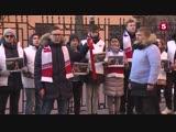 «Молодая гвардия» устроила акцию протеста у консульства Украины в Петербурге