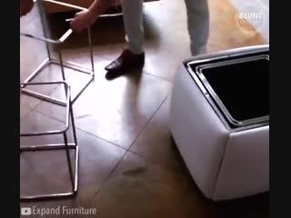 Варианты очень необычной складной мебели для дома