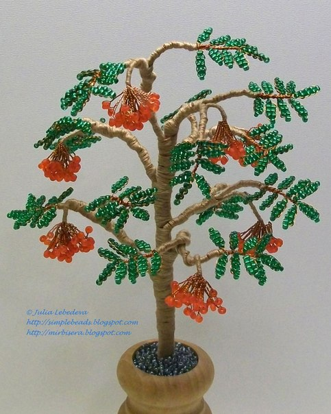 Деревья из бисера легкие