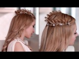 Braided crown halo hairstyle for medium long hair Princess/fairy/goddess cosplay hair tutorial