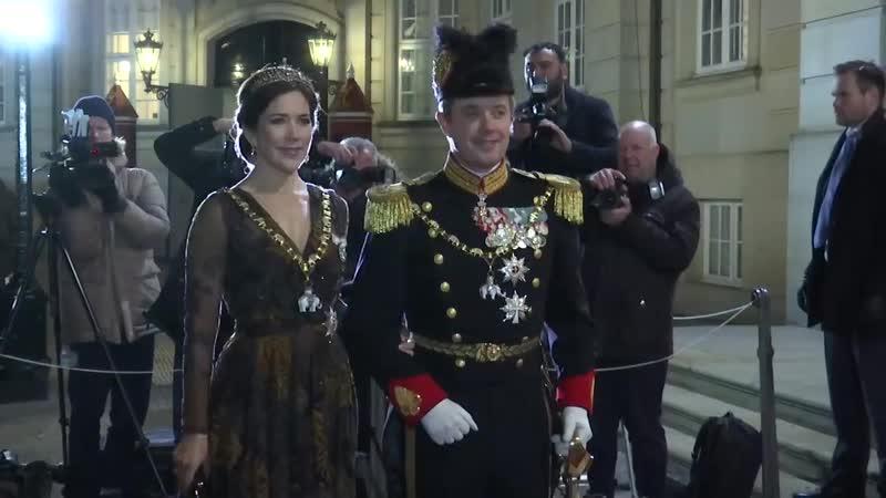 Прибытие членов Королевской семьи на Новогодний прием 2019