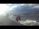 Переход Таллин Спб 22 06 18г Идем под штормовым стакселем от 9 до 12 кнутов