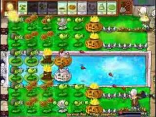 Закеев Алексей: plants vs zombies - Survivor Pool