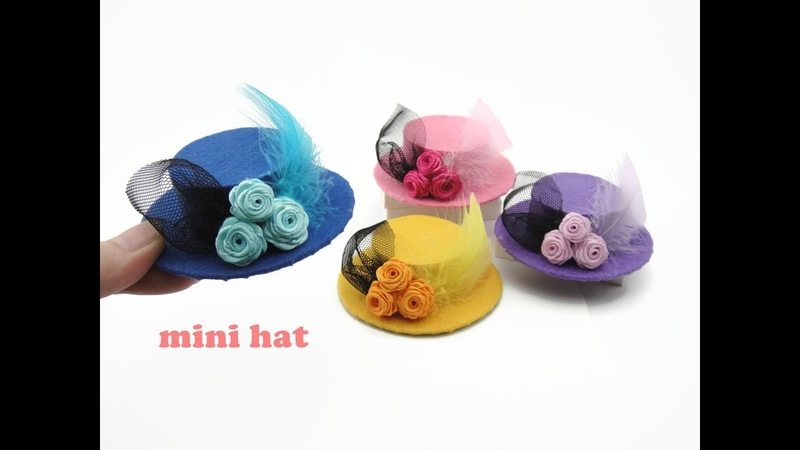 DIY Miniature Doll Mini Feather Hat - For Barbie!