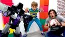 Играем в футбол с Трансформерами! Видео с игрушками для мальчиков.