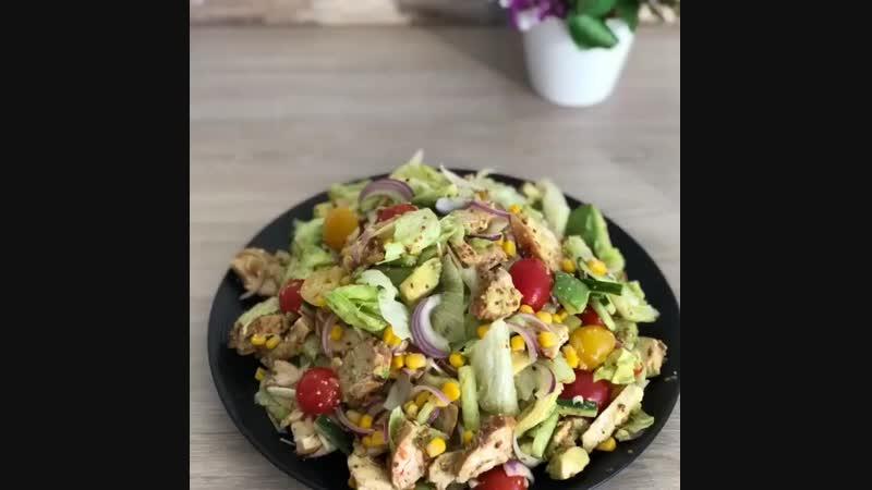 Салат с курицей и авокадо Здоровое питание Power of will