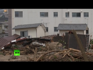 Aftermath of torrential rain  mudslides in japan as at least 80 killed