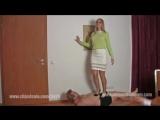 Trampling black heels Mistress Demona