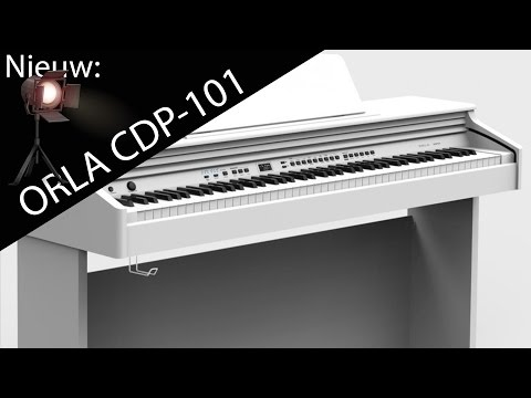 Orla CDP101 wit-hoogglans digitale-piano demonstratie