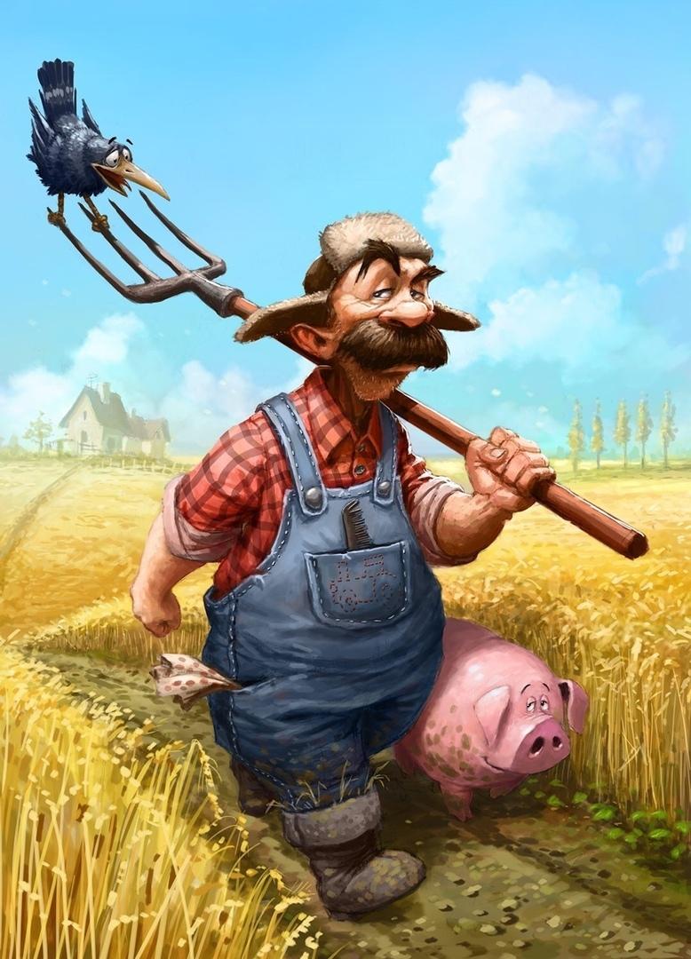 Очень, прикольные картинки про колхозников