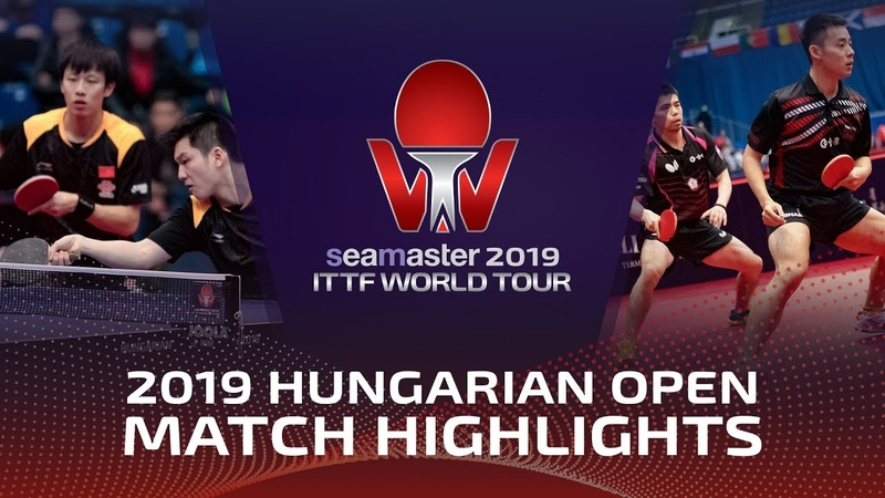 Fan ZhendongLin Gaoyuan vs Chen C-AChuang C-Y | 2019 Hungarian Open Highlights (14)