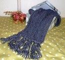 как связать красивый шарф спицами.