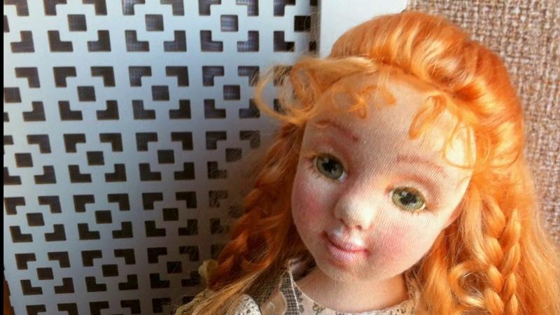 Текстильная кукла Мишель