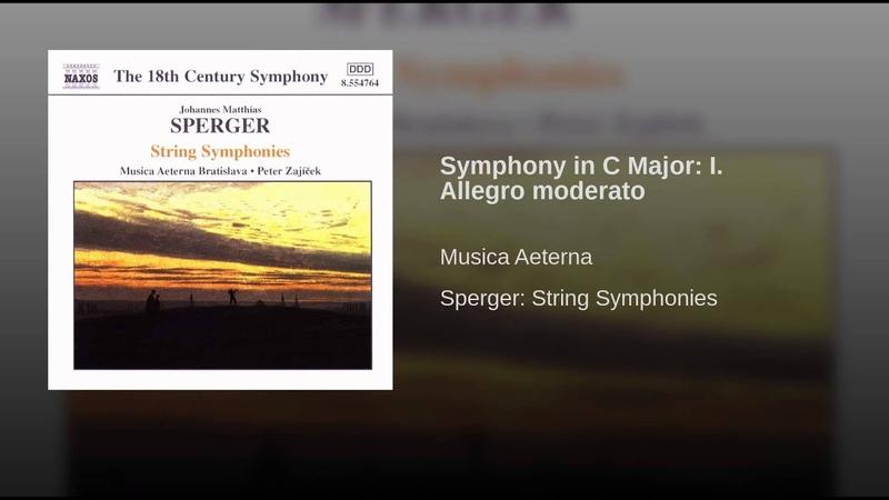 Symphony in C Major: I. Allegro moderato