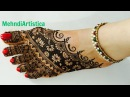 Beautiful Nilofar Bridal Feets Mehndi Design:Learn Latest Wedding Henna Mehendi By MehndiArtistica