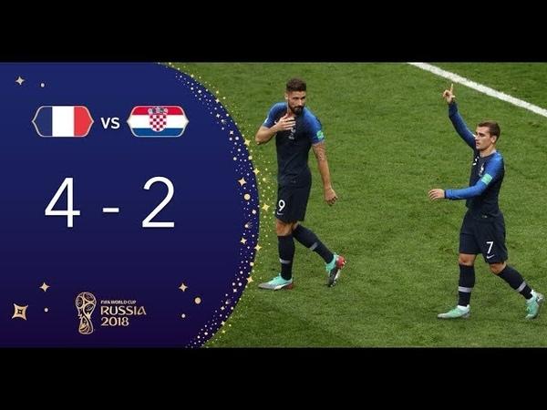 Футбол. Обзор матча Франция - Хорватия 4:2 Финал Чемпионат Мира 2018 в России.