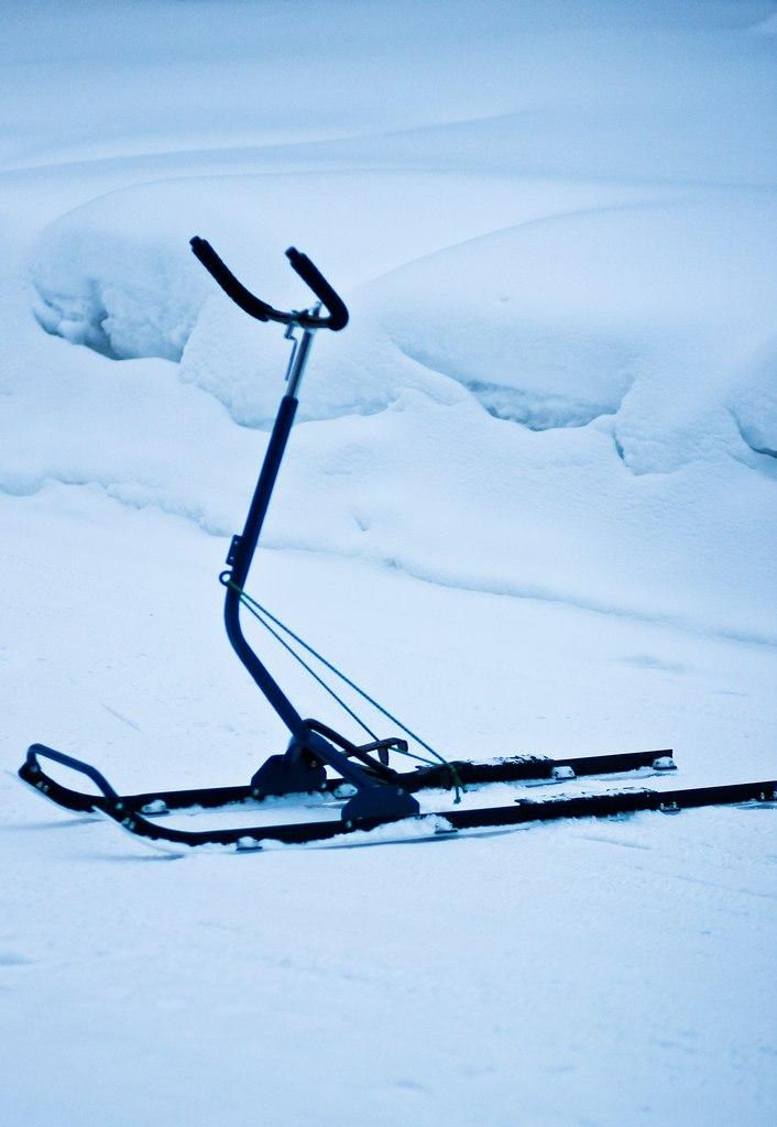Как сделать из лыжи сани 641