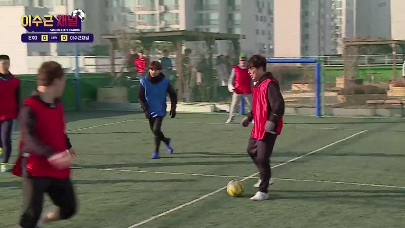 190122《Lee Soo Geun with. SUHO и XIUMIN(EXO)》 Its the Love shot матч по мини-футболу