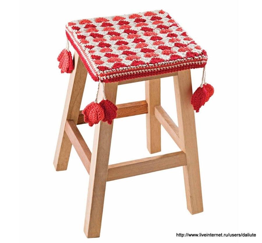 Вязание накидка для стульев 818