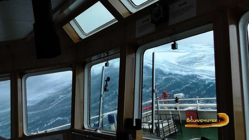 SHIP in 21 METER (65 feet) SEAS - STORM DEIRDRE