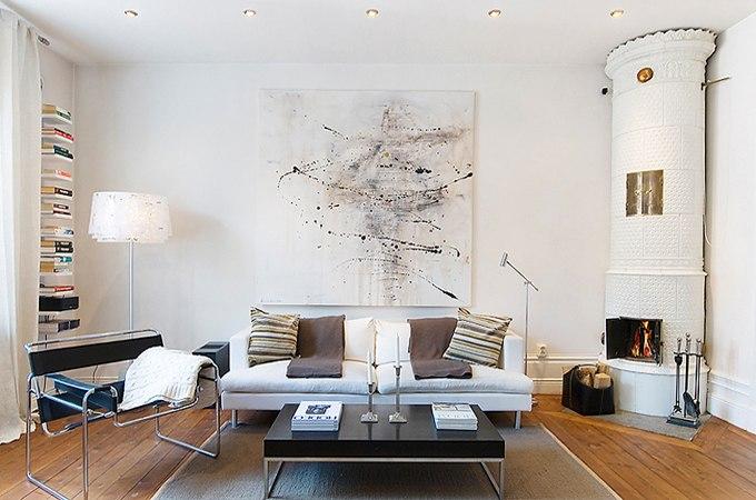 Скандинавский интерьер квартиры-студии 43 м в центре Стокгольма / Швеция - http://kvartirastudio.