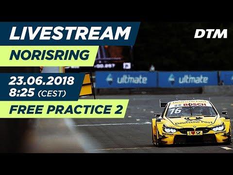 DTM Norisring 2018 - Free Practice 2 - RE-LIVE (German)