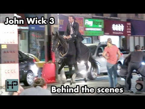 'John Wick 3' - Behind The Scenes - Keanu Reeves Goes Horseback Through The Streets of NY