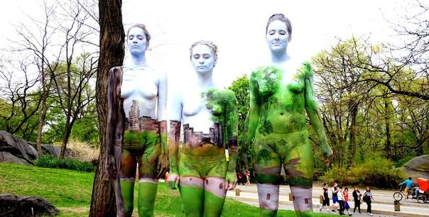 Когда полностью слился с природой... Американка Натали Флетчер (Natalie Fletcher) удивляет мир своими натуралистическими боди-пейзажами. Lost in the landscape (Затерянные в пейзаже) проект,