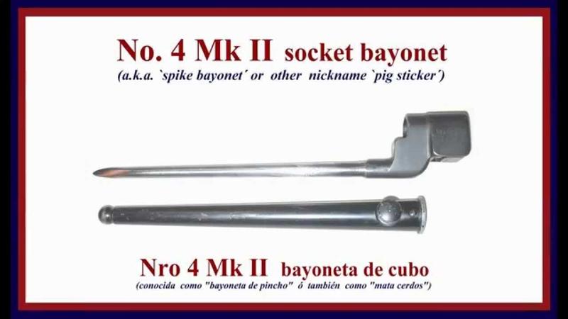 No. 4 MkII socket bayonet (a.k.a. `Spike bayonet´ or `pig sticker´)