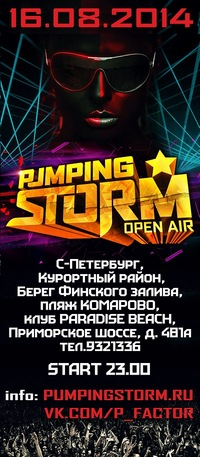16 АВГУСТА - PUMPING STORM Open Air