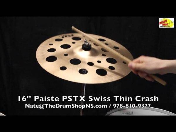 Paiste PSTX Swiss Thin Crash 16'' - The Drum Shop North Shore