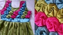 Colourful Frock making in hindi at home Origami Smocking dress cutting stitching design girl blusa