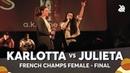 KARLOTTA vs JULIETA French Female Beatbox Championship 2018 Final