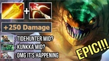 OMG Finally Full Item Tidehunter vs Full Item Kunkka Mid EPIC Crazy Game Benjaz vs Timado Dota 2