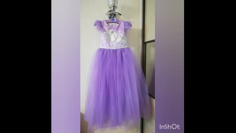 Сиреневое платье для девочек