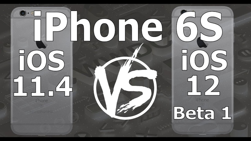 Speed Test : iPhone 6S - iOS 12 Beta 1 vs iOS 11.4 (iOS 12 Beta 1 Build 16A5288q)