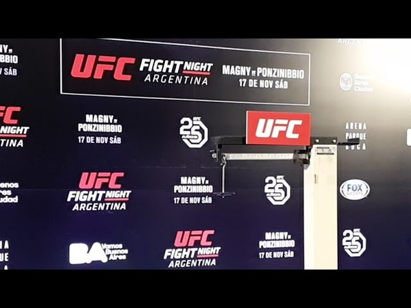 Взвешивание к UFCArgentina