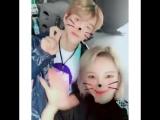 HYOYEON Instagram Update watasiwahyo with NCT LUCAS