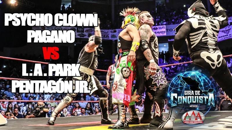 Psycho y Pagano Vs Park y Pentagón | Lucha Libre AAA Worldwide