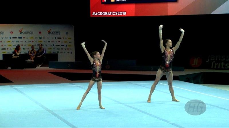 Russian Federation 1 (RUS) - 2018 Acrobatic Worlds, Antwerpen (BEL) - Balance Women's Pair