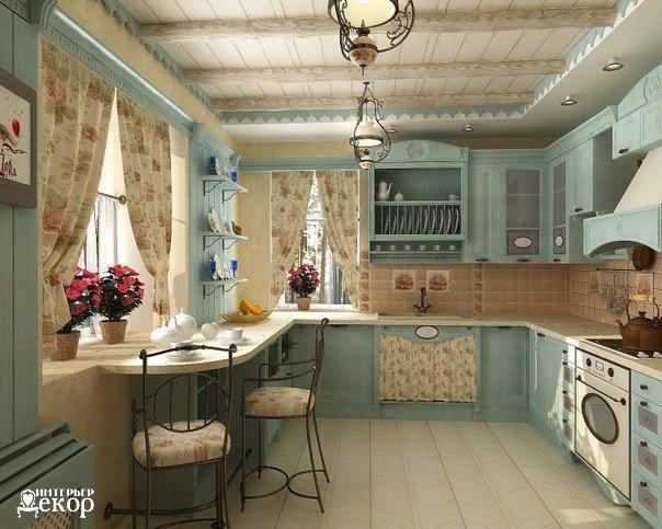 Кухня в стиле прованс (1 фото) - картинка