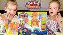 Play-Doh Town Лепим мороженое из пластилина Плей До Грузовичок с мороженым Видео для детей