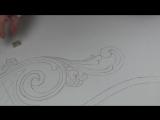 Рисунок резной кровати, резьба по дереву