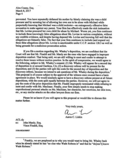 Показания Йоши Уейли, сына Джоли Левин (секретарь MJ)., изображение №41