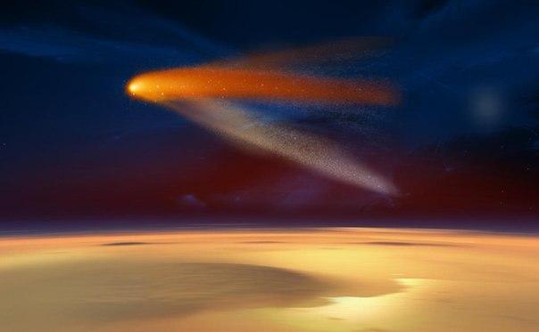 Через 15 минут комета Siding Spring пролетит около Марса на скорости 202 тысячи км/ч. Видеотрансляция начнется в самое ближайшее время
