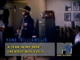 Hank Williams Jr - A tear in my beer ( VHS Pro-Rip MTVs Away From The Pulsebeat _ YES !! _ 1989 )