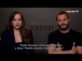 New interview of Jamie and Dakota during FiftyShadesFreed Promo for Rakuten Tv Espana ️ Ja